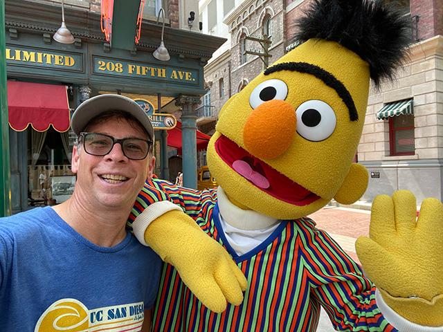 Danny Sullivan and Bert the Muppet selfie